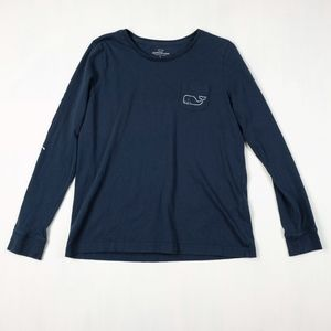 Vineyard Vines Long Sleeve Whale Pocket Tee Shirt